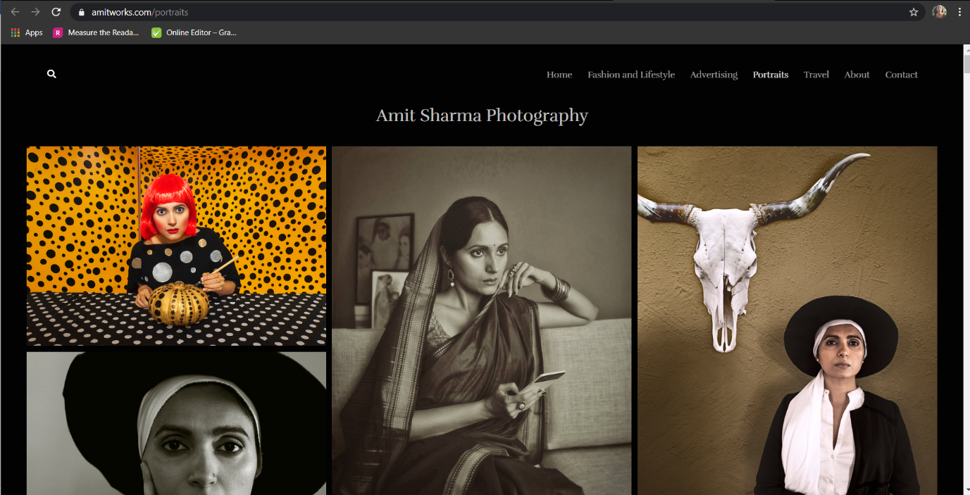 Promote your portfolio through photography website