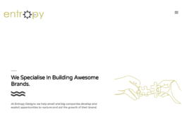 Website design for Entropy Design