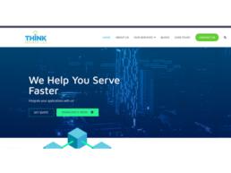 Website design for ThinkSource (US))