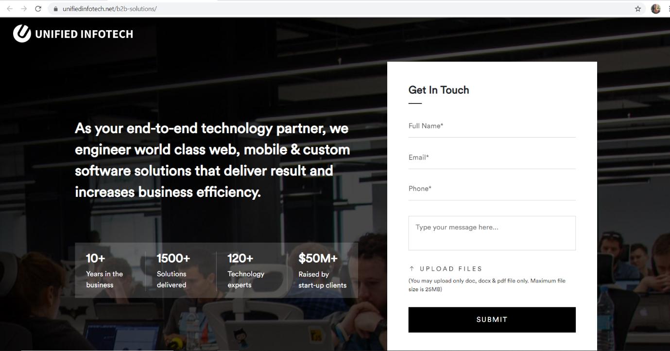 Unified Infotech, UI/UX company