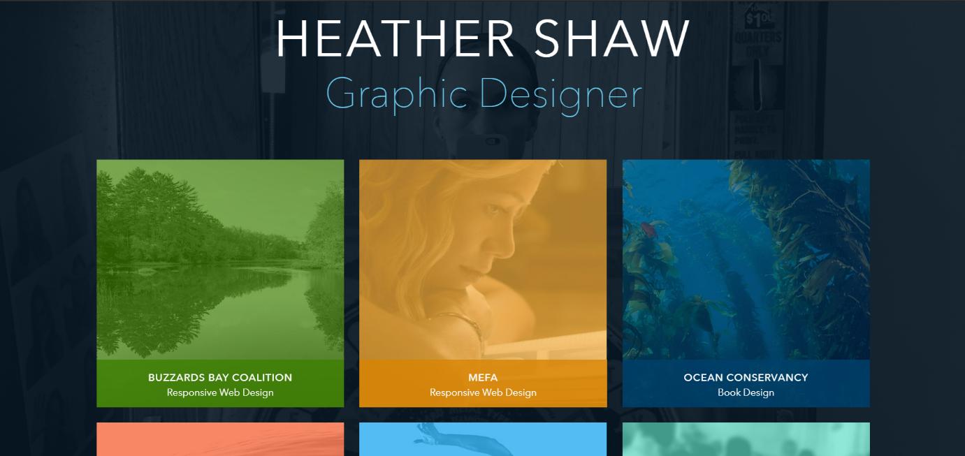 Heather shaw a graphic design portfolio website