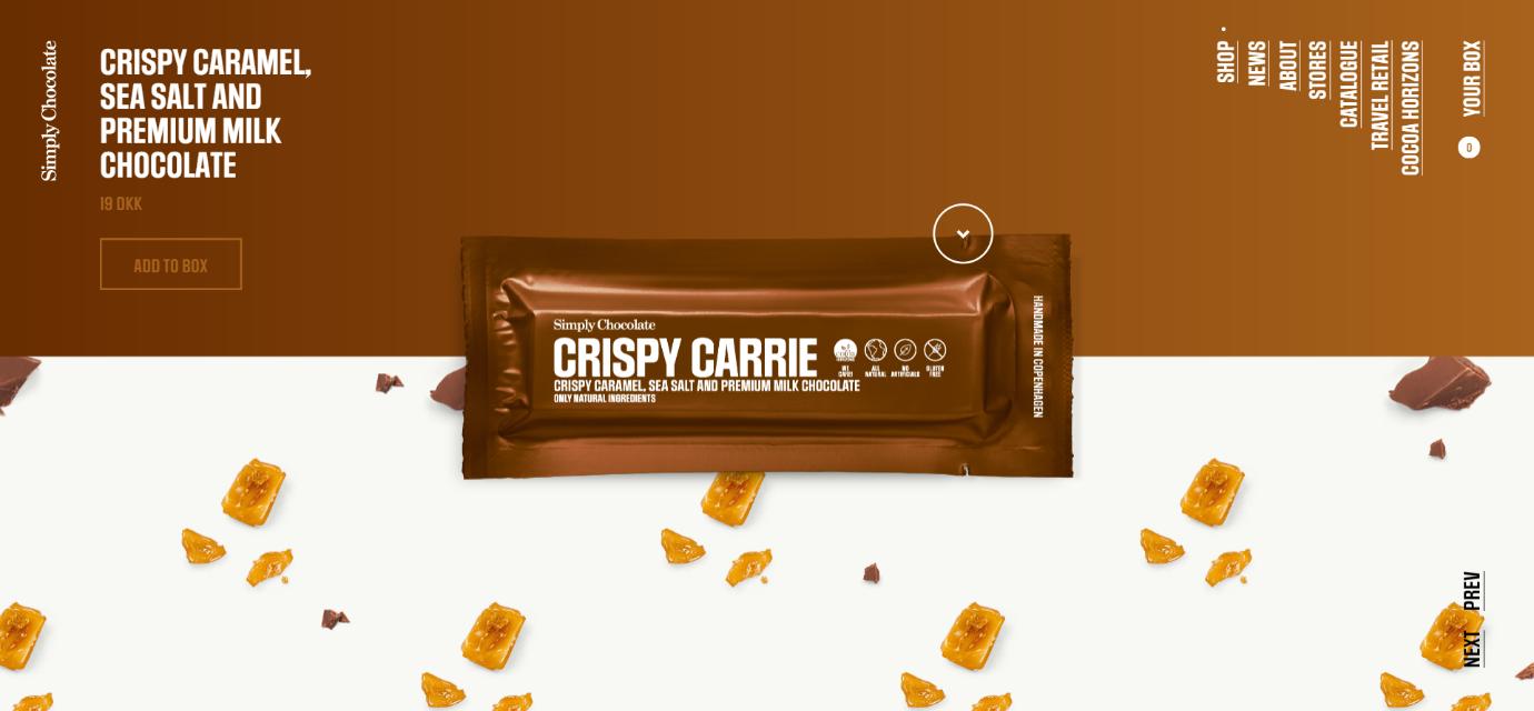 Simply Chocolate Ecommerce website design