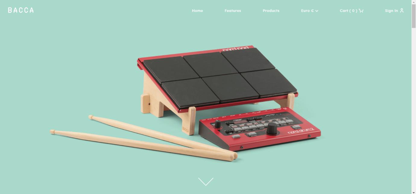Bacca ecommerce website design example