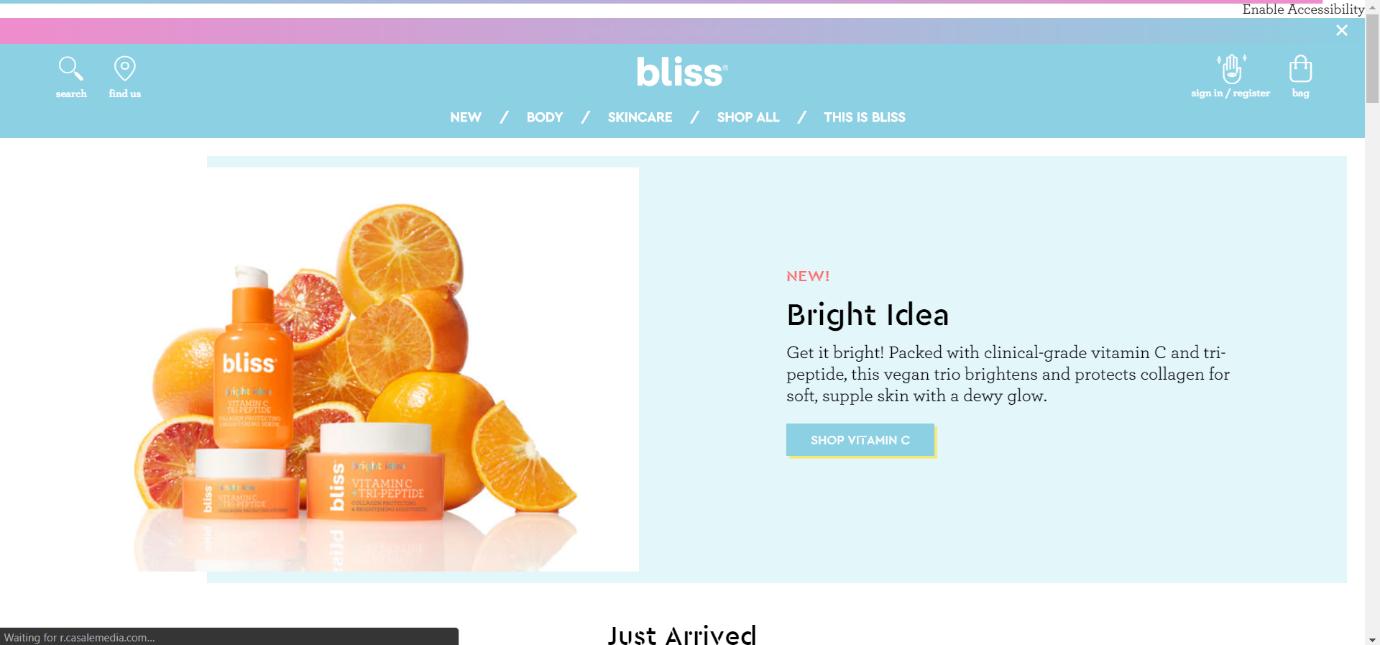 bliss best Ecommerce website design