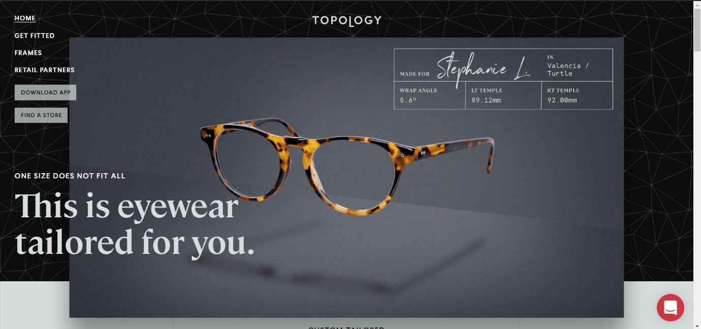 Topology ecommerce website design