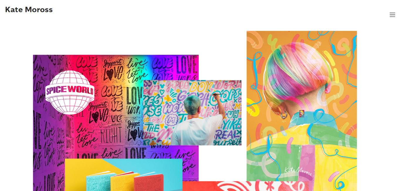 Kate Moross graphic design portfolio website