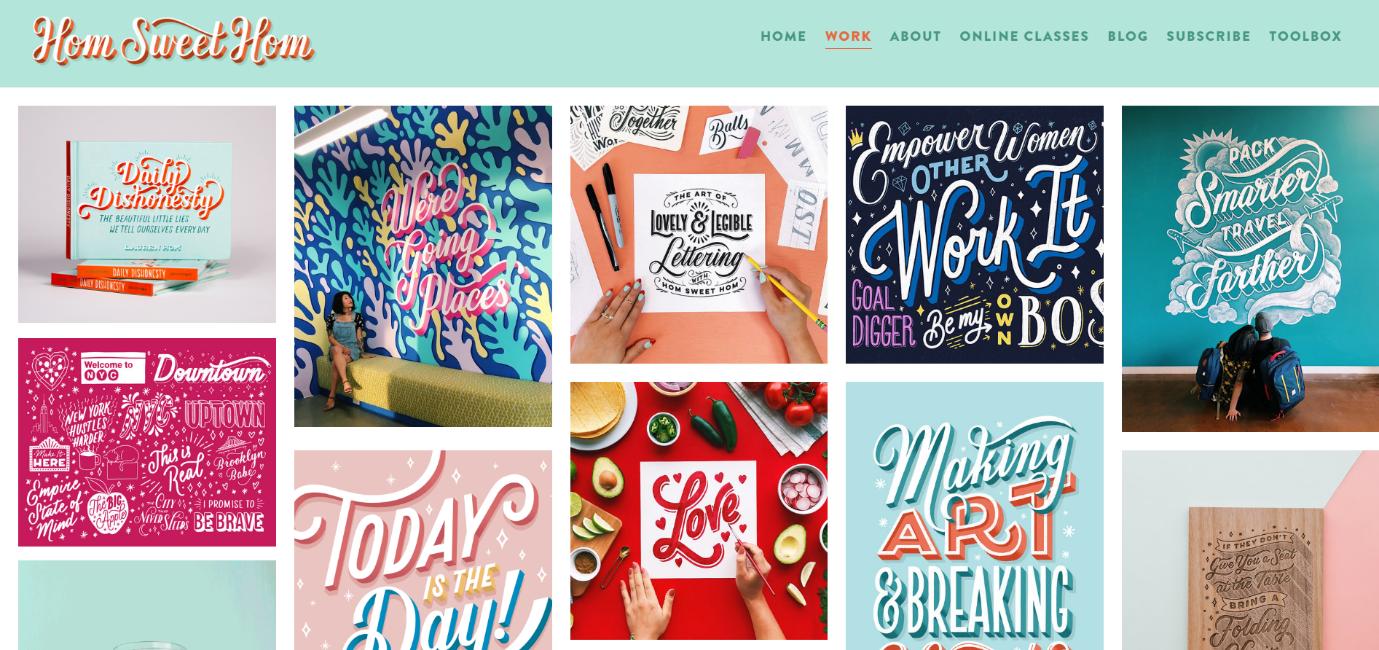 Lauren Hom graphic design portfolio website