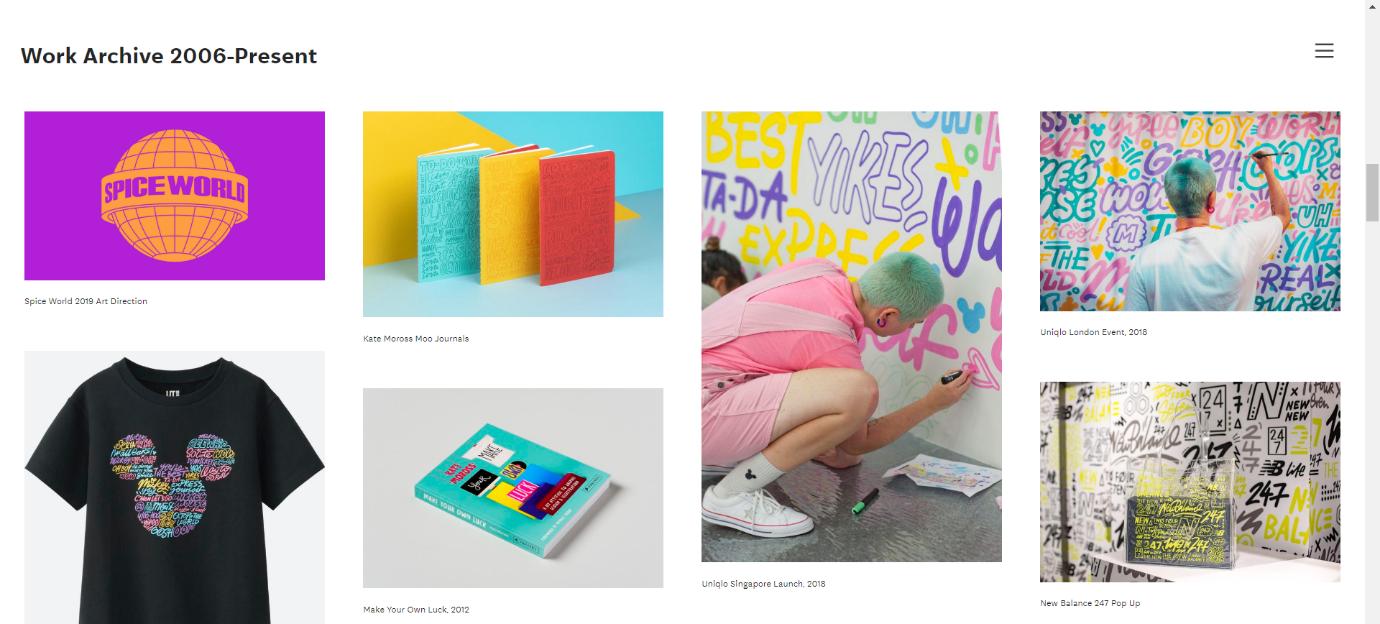 Neat designs needed in graphic design portfolio