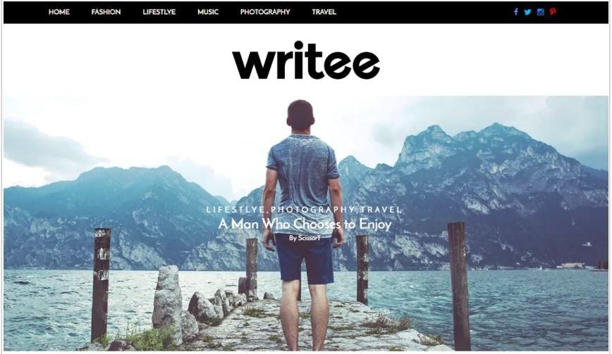 Writee free wordpress blog themes
