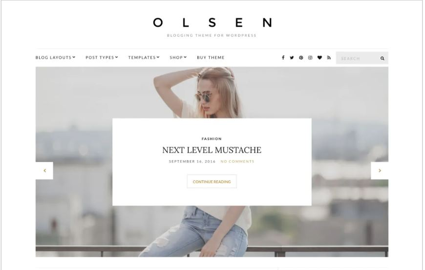 Olsen light free wordpress blog themes