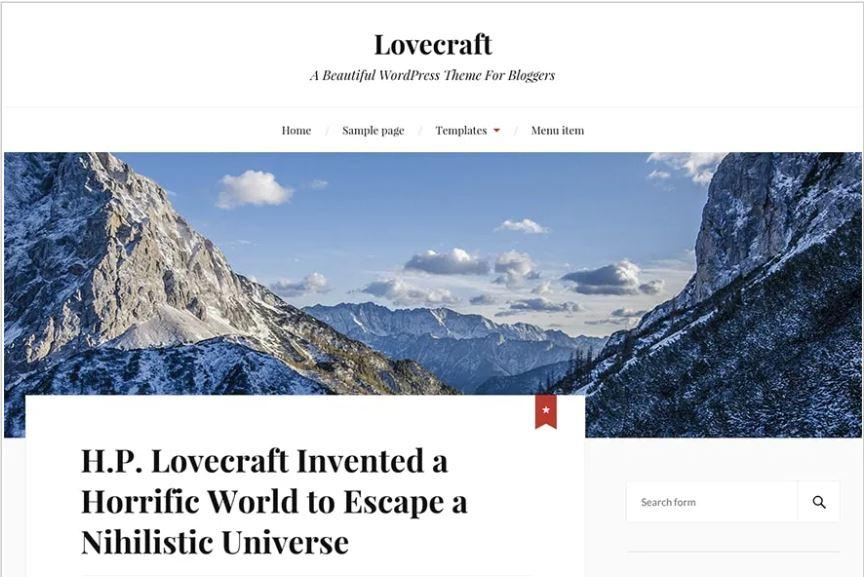 Lovecraft free wordpress blog themes