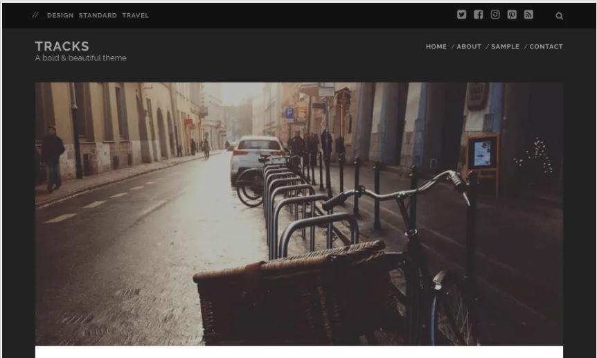 Tracks free wordpress blog themes