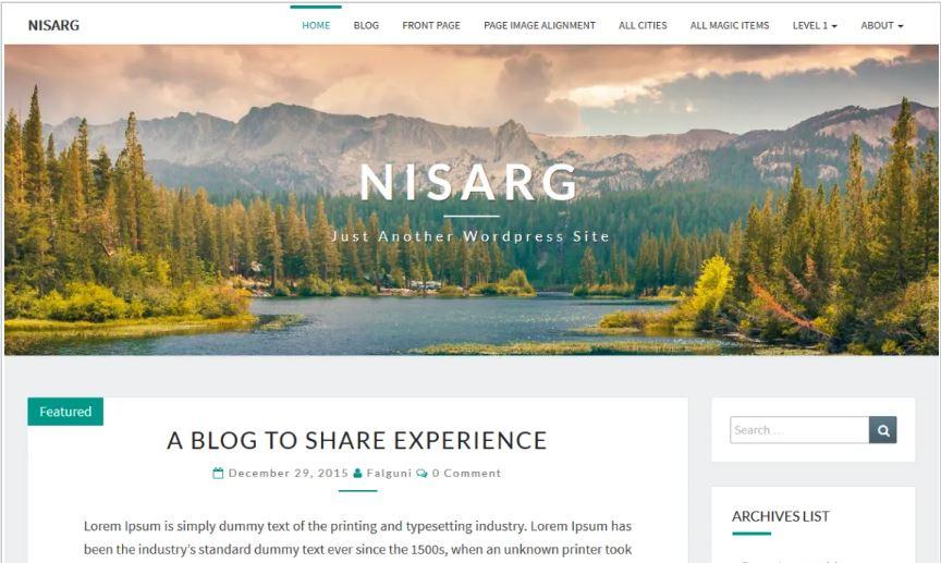 Nisarg free wordpress blog themes