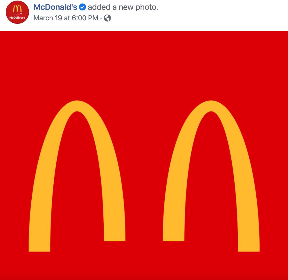 Mcdonalds promote social distancing