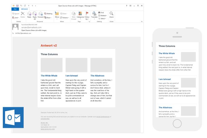Antwort newsletter template