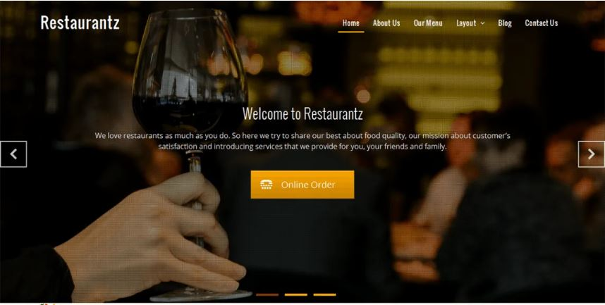 Restaurantz food and restaurant wordpress theme