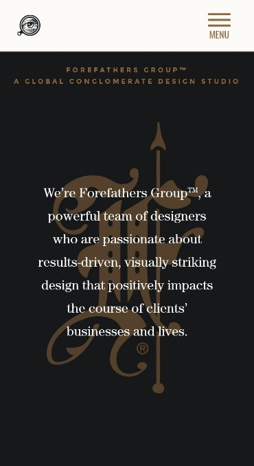 Forefathers Group responsive website layout