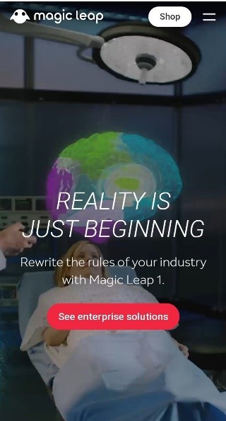 Magic Leap responsive website layout