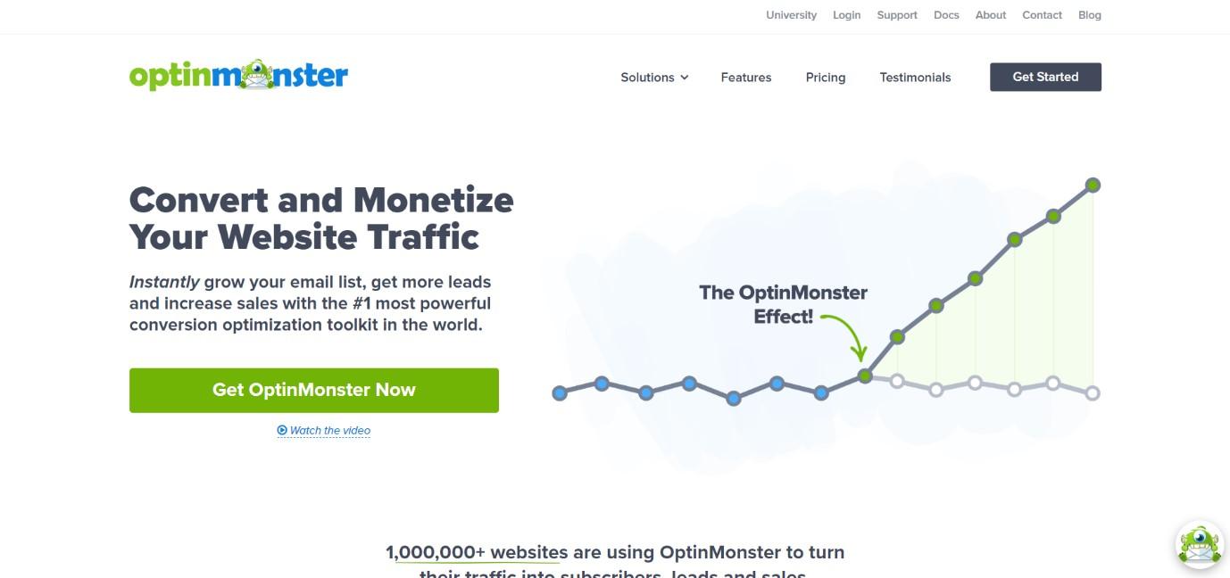 OptinMonster one of the best wordpress plugins