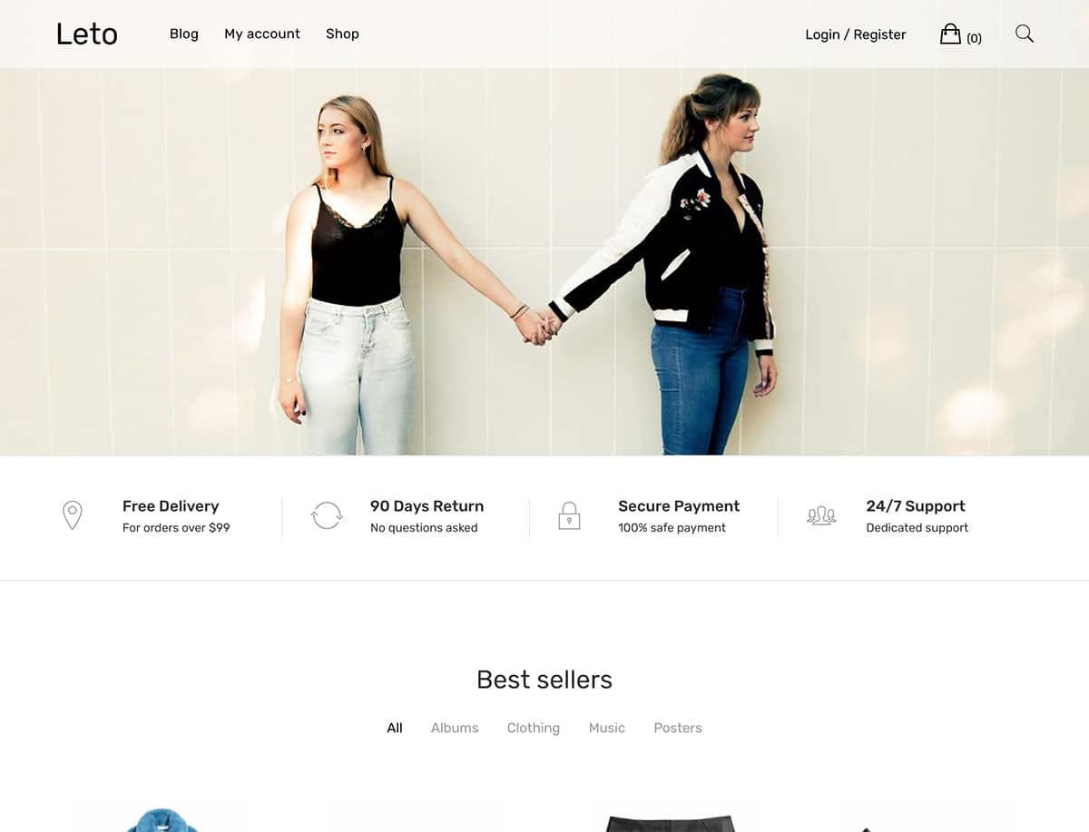 Leto wordpress ecommerce theme