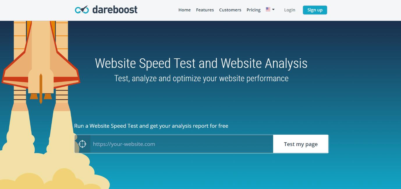 dareboost speed test tool