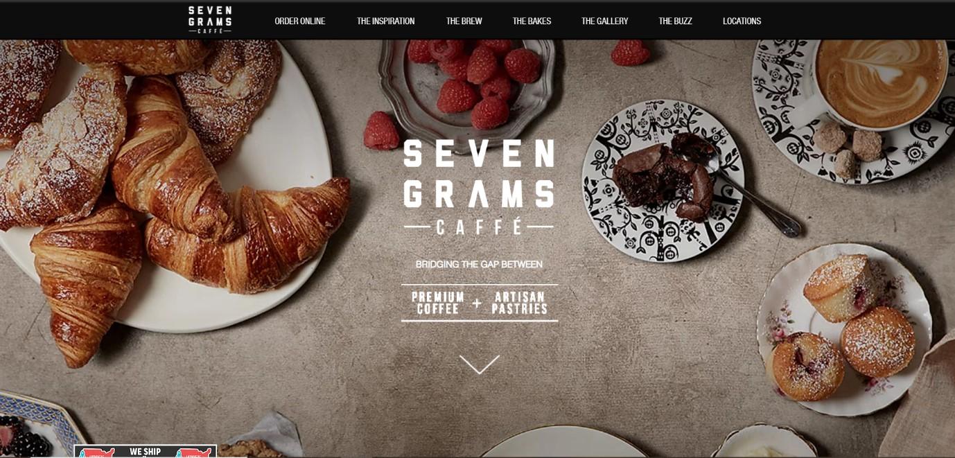 Seven Grams Caffe Website